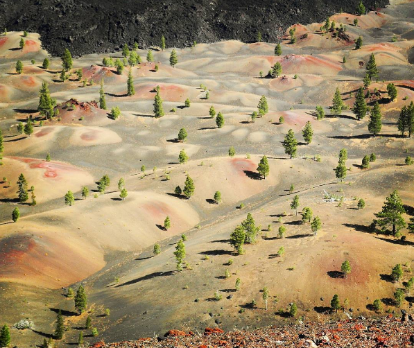 Painted Dunes and the Fantastic Lava Beds, Lassen Volcanic National Park