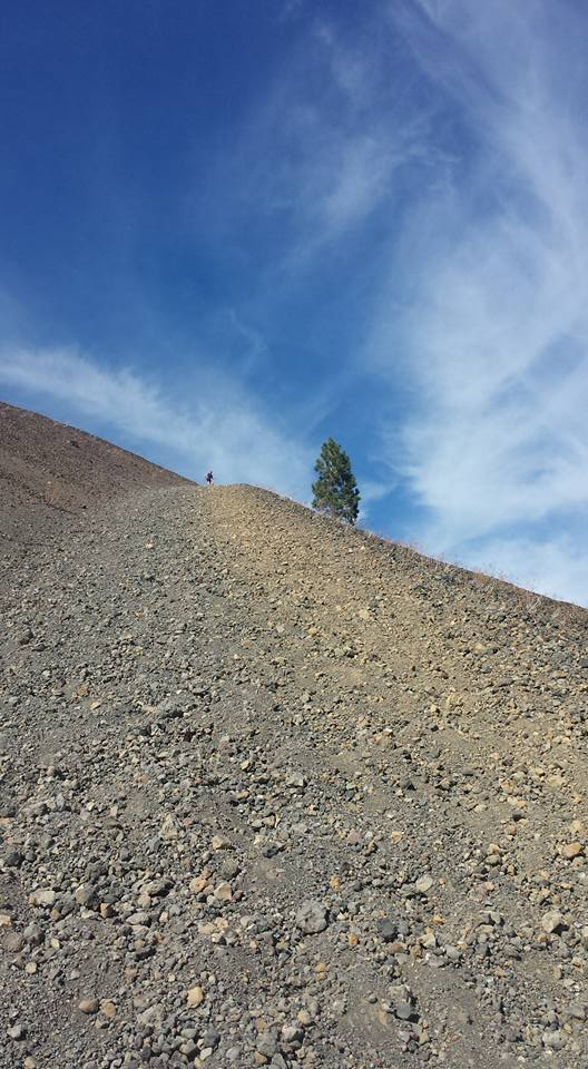Scooting down Cinder Cone, Lassen Volcanic National Park