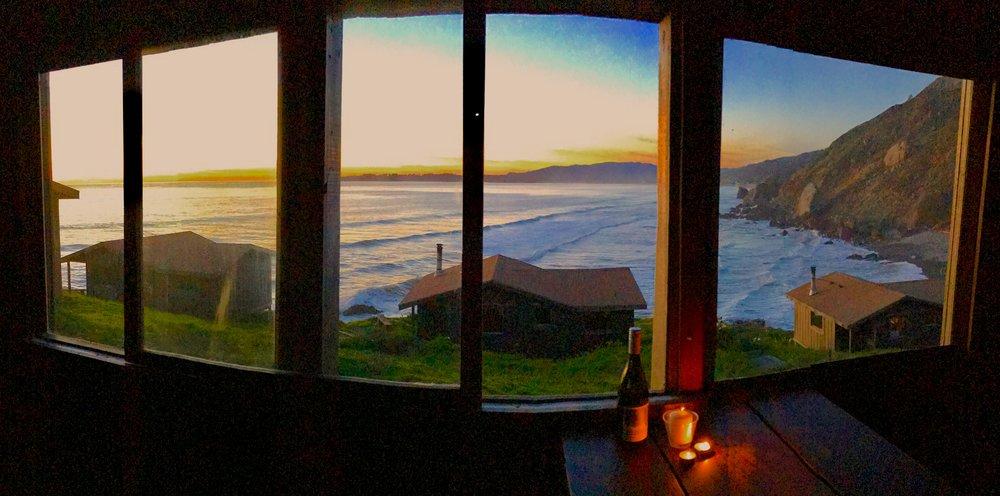 Sunset from cabin #2, Steep Ravine, California