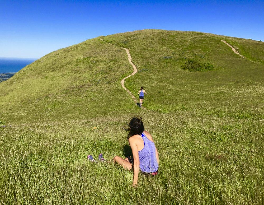 Running for a better view, Mt. Tamalpais State Park