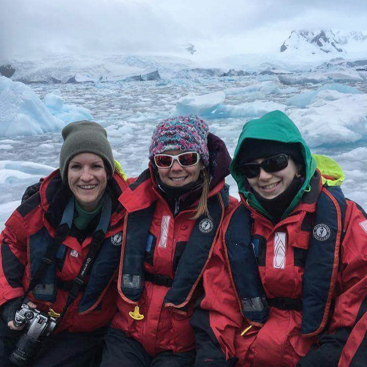 Kate, me, and Sabrina in Antarctica, 2016