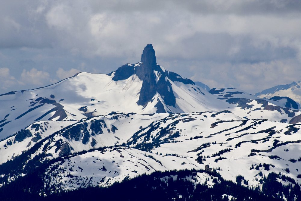 The Black Tusk, as seen from Whistler Peak, British Columbia, Canada