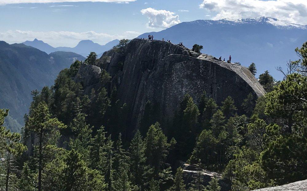 Looking at the South Summit, Stawamus Provincial Park, Squamish, British Columbia, Canada