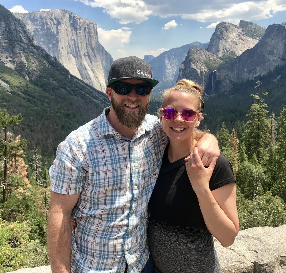 Fake backdrops in Yosemite National Park, California