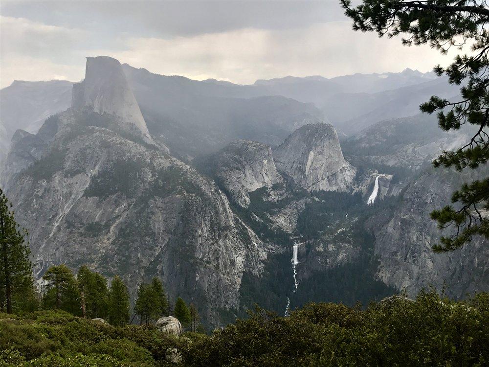 Half Dome in the rain,Yosemite National Park, California