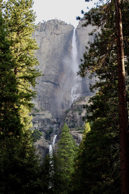Raging Yosemite Falls,Yosemite National Park, California