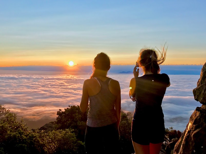 Best friends on Mt. Tamalpais, California