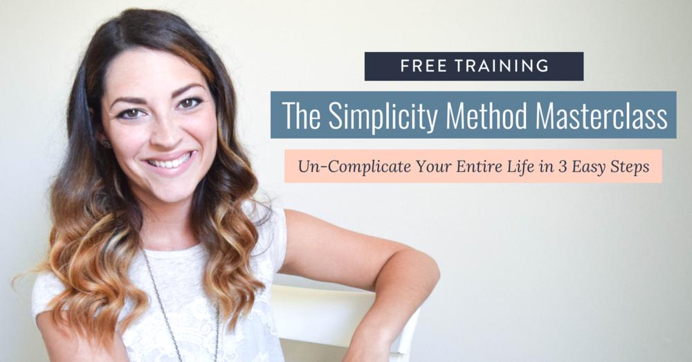 The Simplicity Method Masterclass