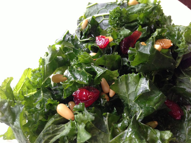 No-Frills Kale Salad via Worthy Pause