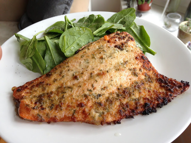 Worthy Pause: Paleo Baked Herbed Salmon and Steelhead Trout Recipe