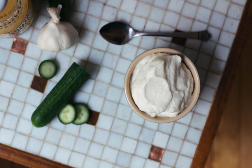 Toum Lebanese Garlic Sauce via Worthy Pause
