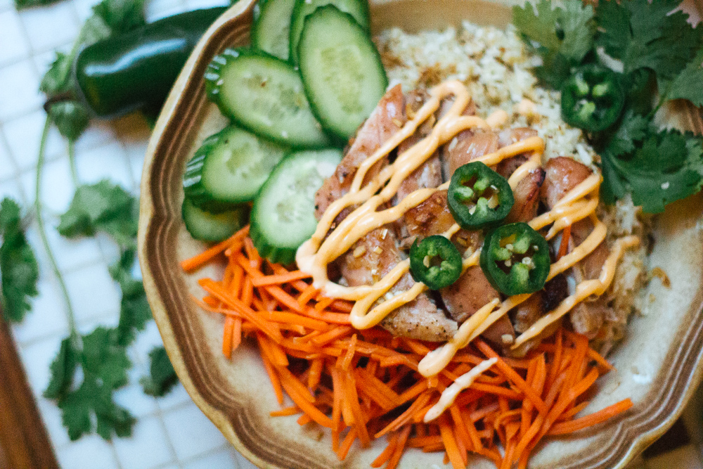 Paleo Banh Mi Bowl via Worthy Pause