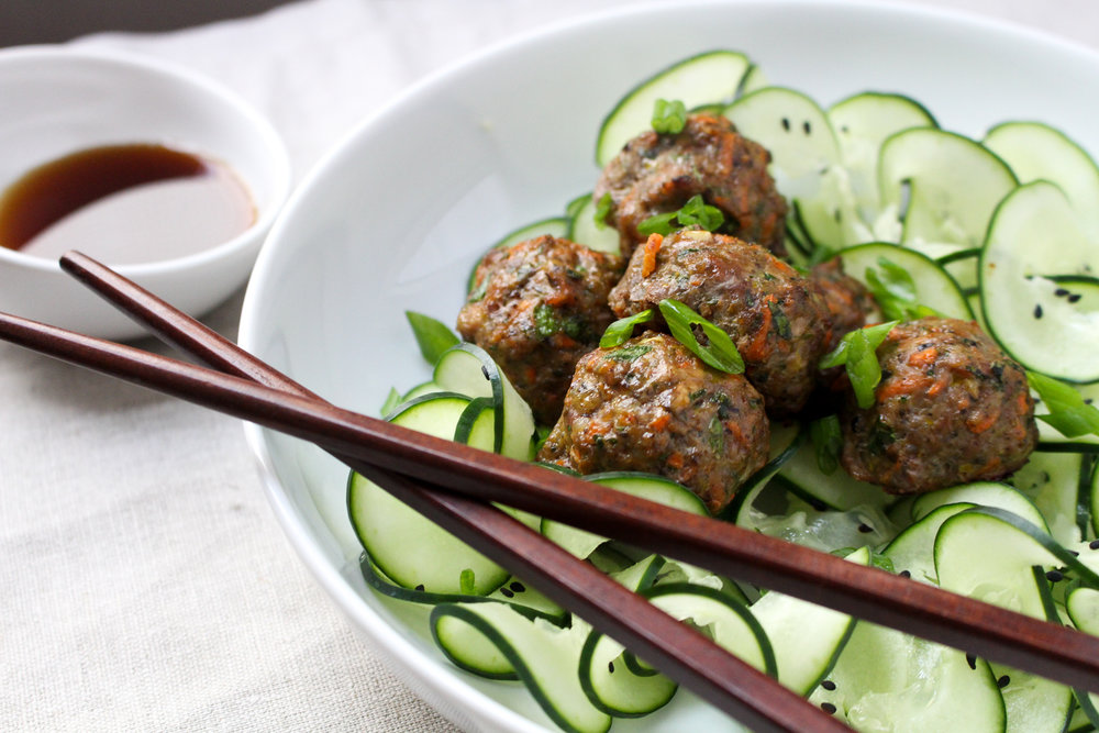 Paleo Potsticker Meatballs by Worthy Pause