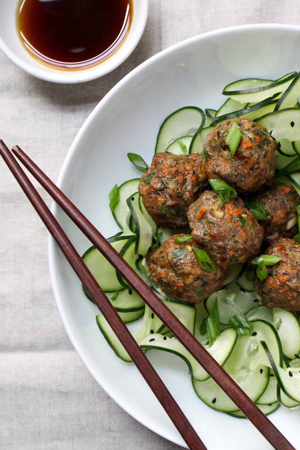Paleo Potsticker Meatballs--3