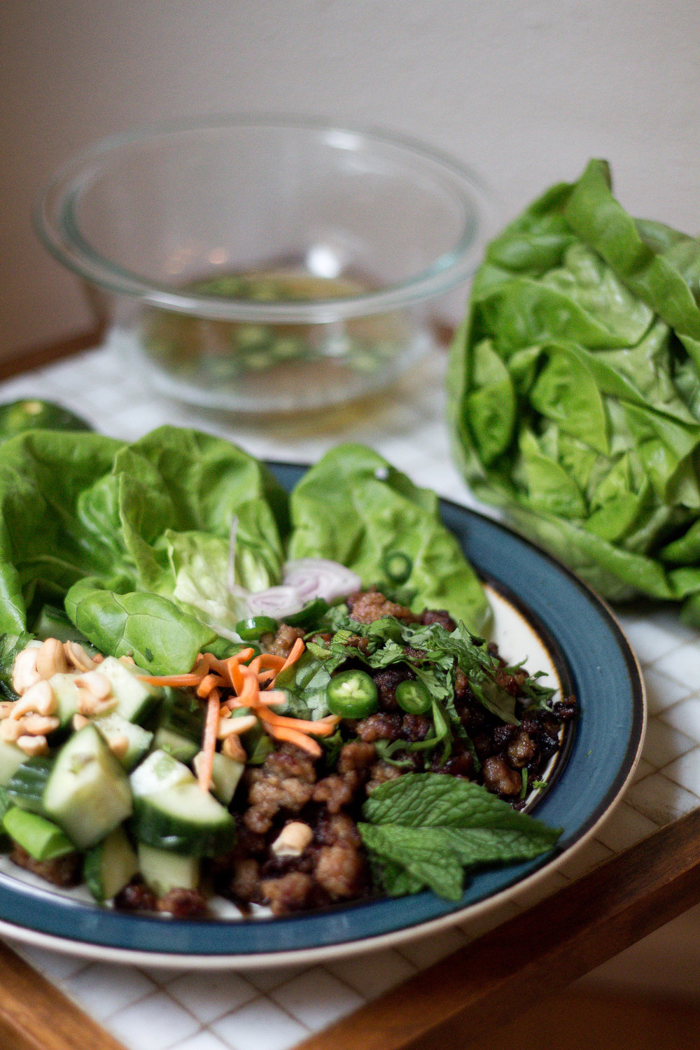 Paleo Thai Lettuce Wraps Recipe via Worthy Pause