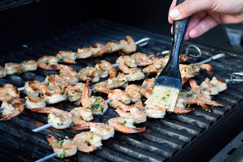 Grilled Lemongrass Shrimp Recipe via Worthy Pause