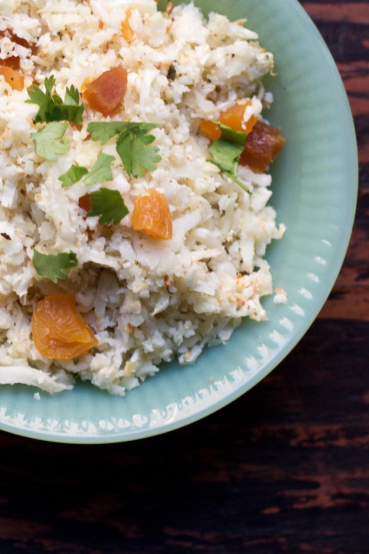Apricot Cauliflower Couscous via Worthy Pause