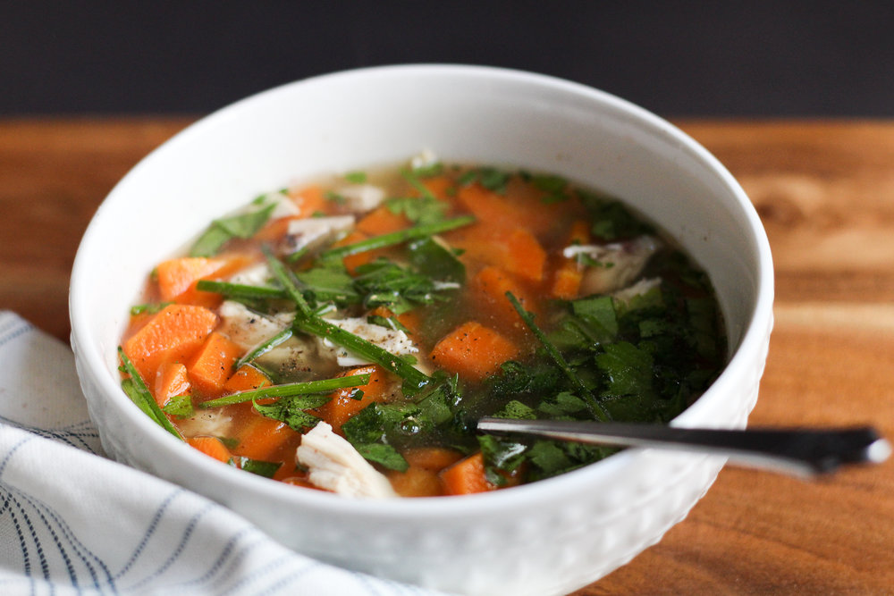 Cold-Busting Paleo Chicken Soup Recipe via Worthy Pause