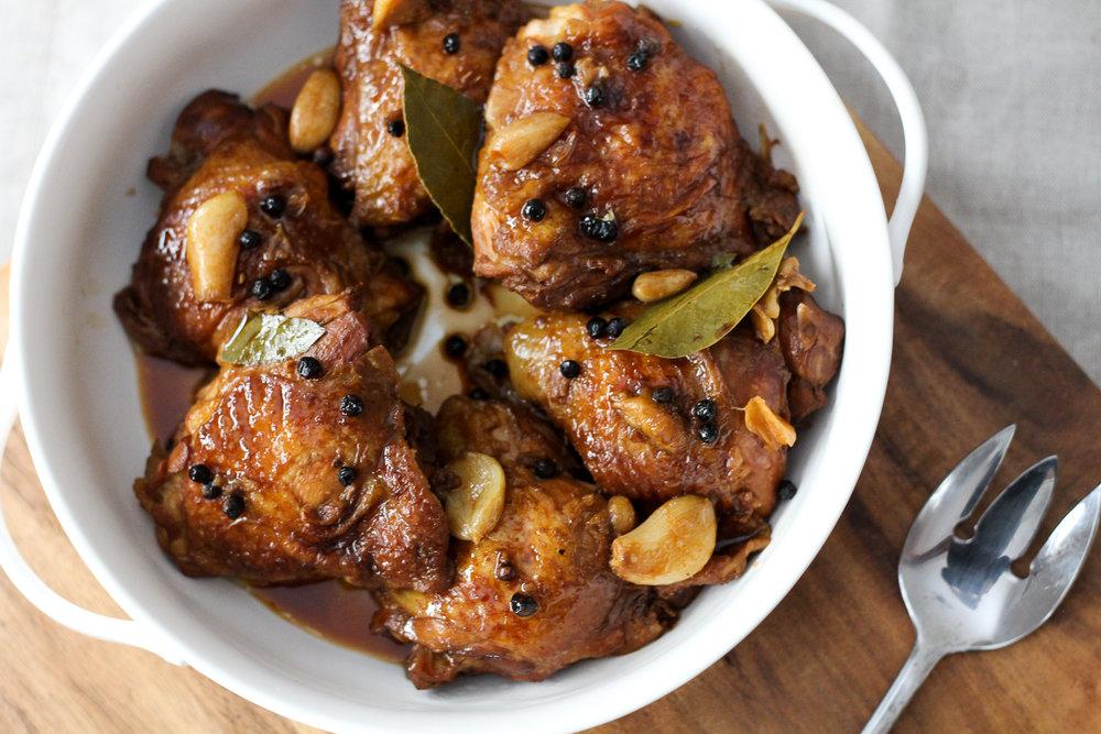 Filipino Chicken Adobo Worthy Pause