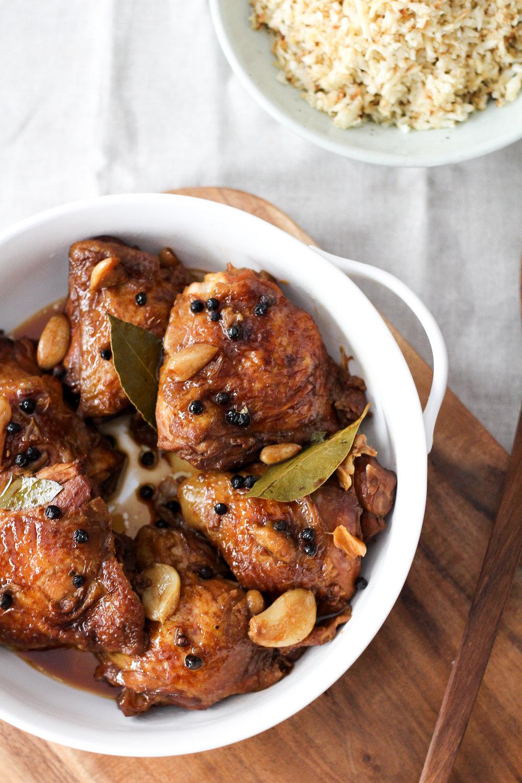 Filipino Chicken Adobo Recipe via Worthy Pause
