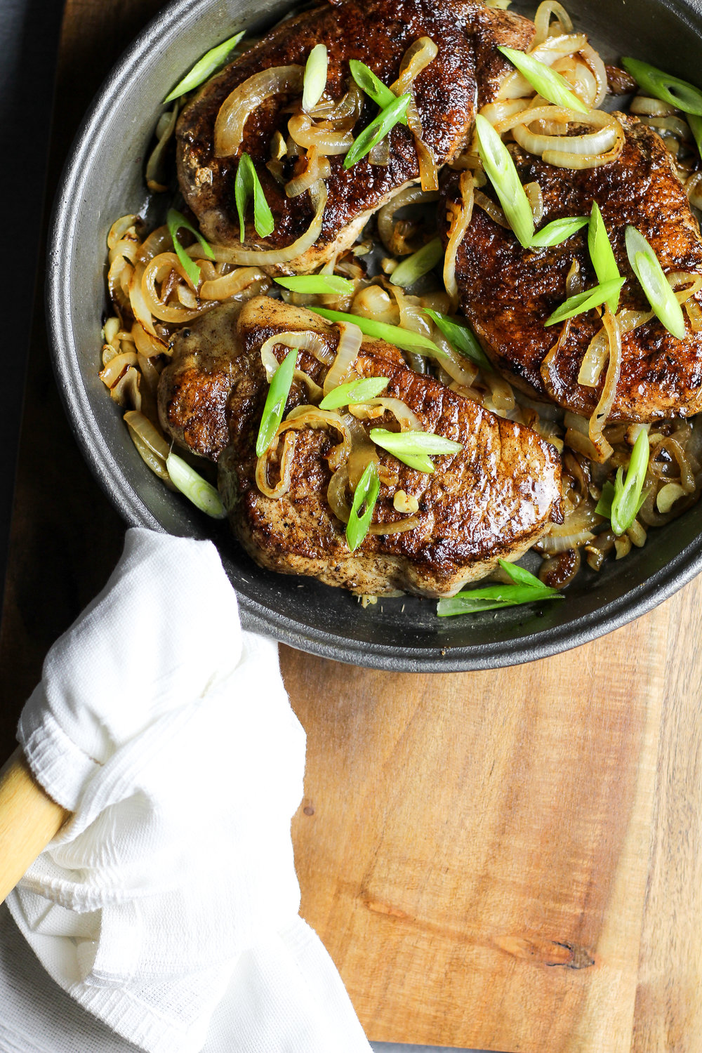 Chinese Five-Spice Skillet Pork Chops Recipe via Worthy Pause