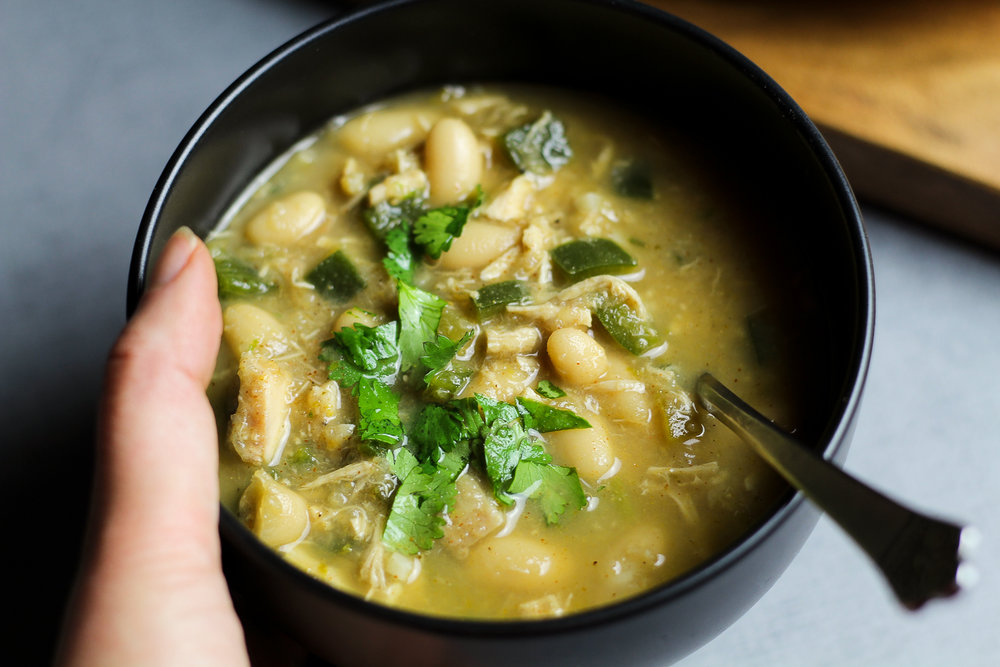 White Chicken Chili Recipe via Worthy Pause