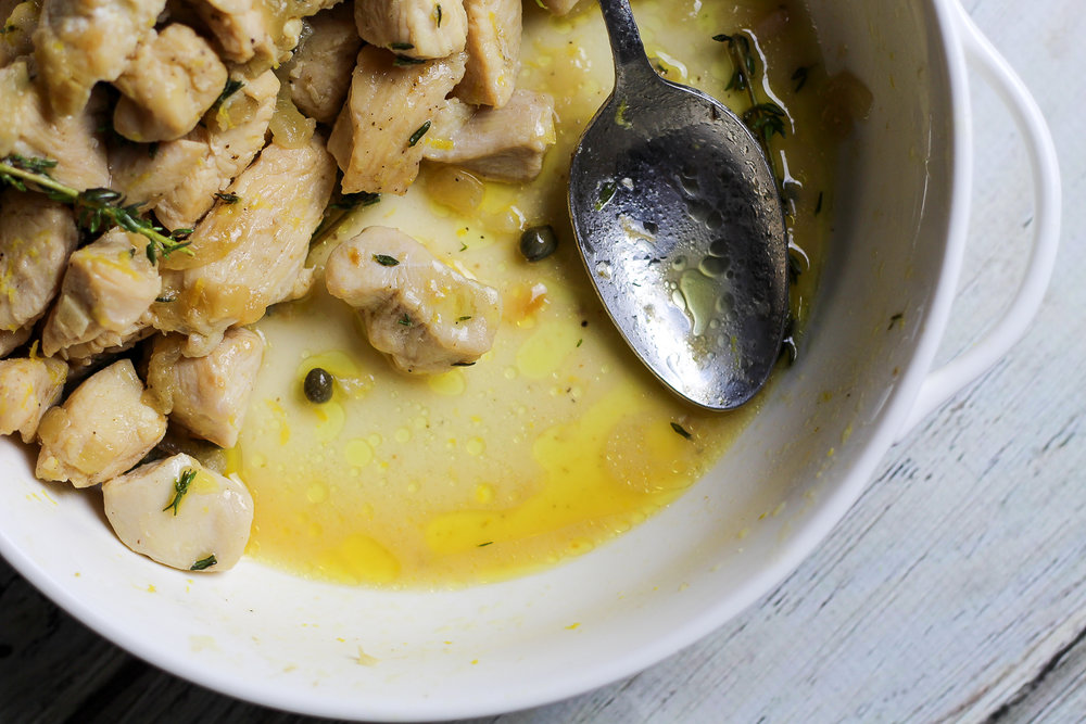 Lemon Chicken with Capers Recipe via Worthy Pause