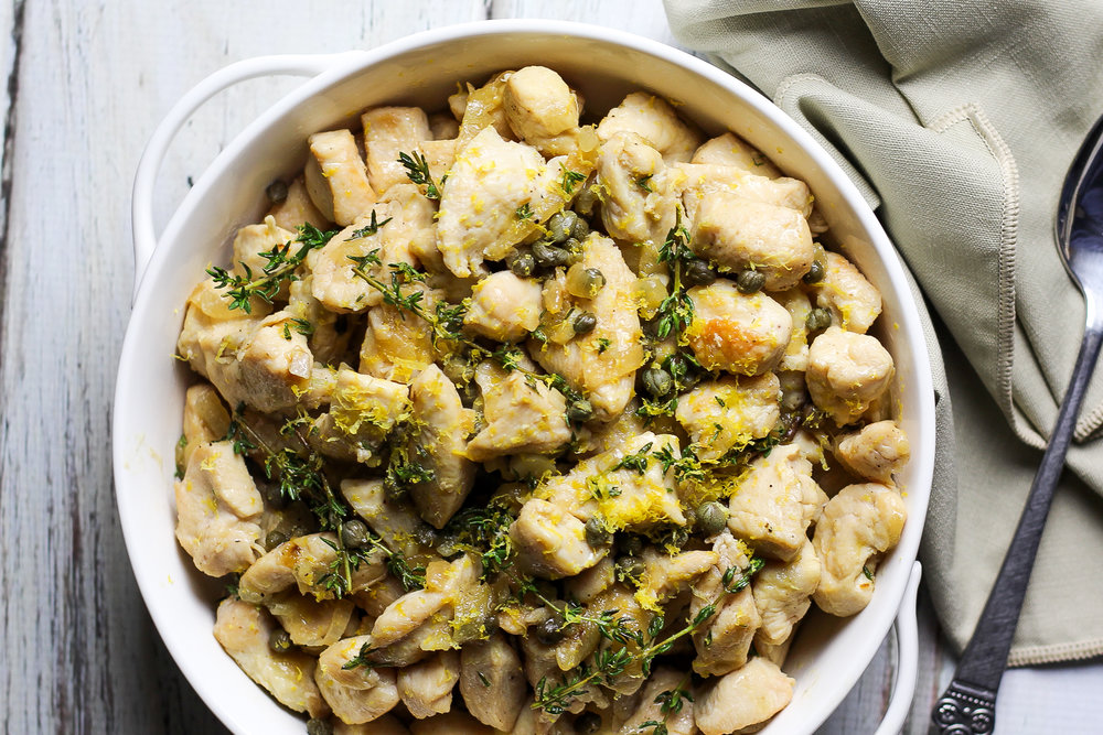 Lemon Chicken with Capers via Worthy Pause