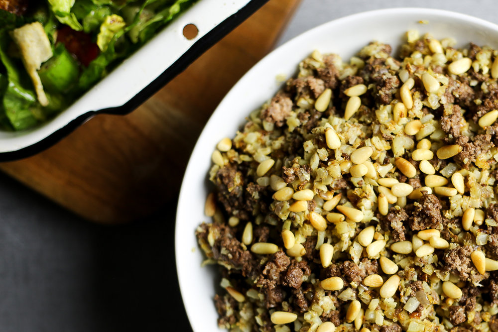 Paleo Hashweh Recipe (Lebanese Dirty Rice) via Worthy Pause
