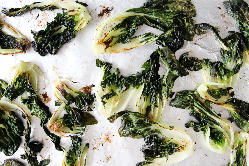 Easy Roasted Baby Bok Choy Recipe via Worthy Pause