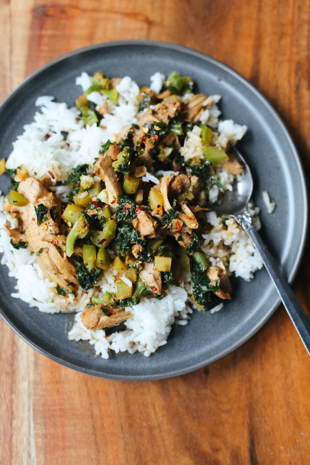 Slow-Cooker Honey-Garlic Chicken Thighs with Green Things Recipe via Worthy Pause