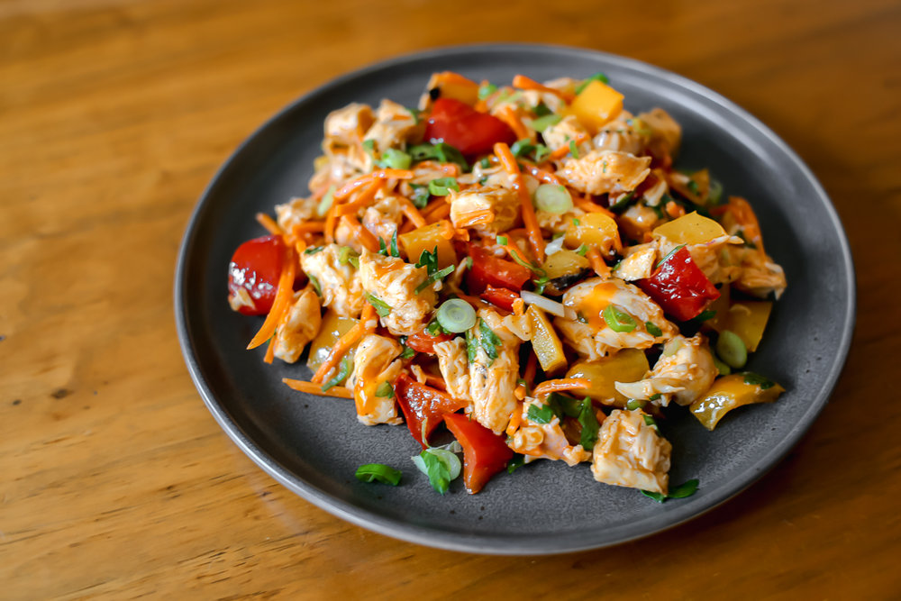 Paleo Buffalo Chicken Salad Recipe via Worthy Pause