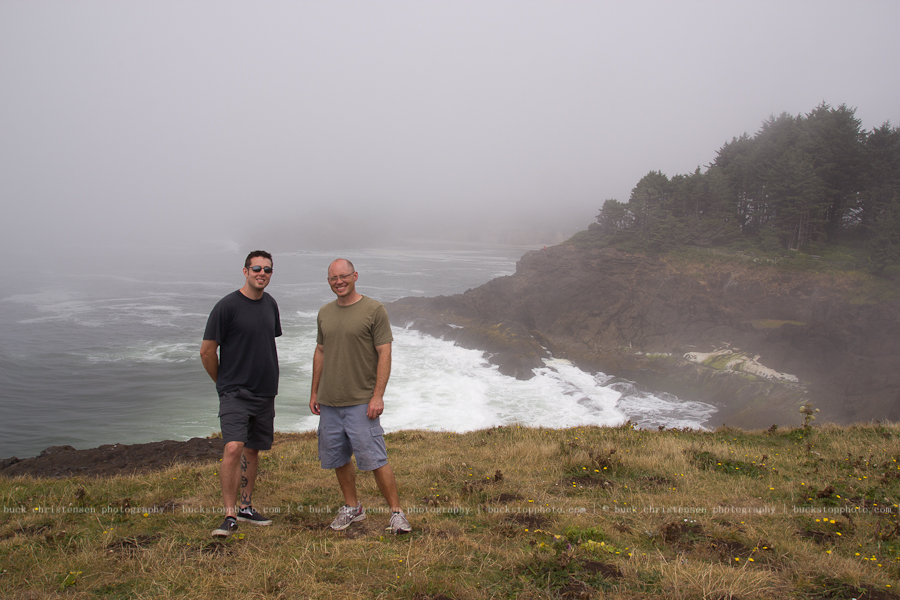 Ben and me, somewhere along the Oregon Coast
