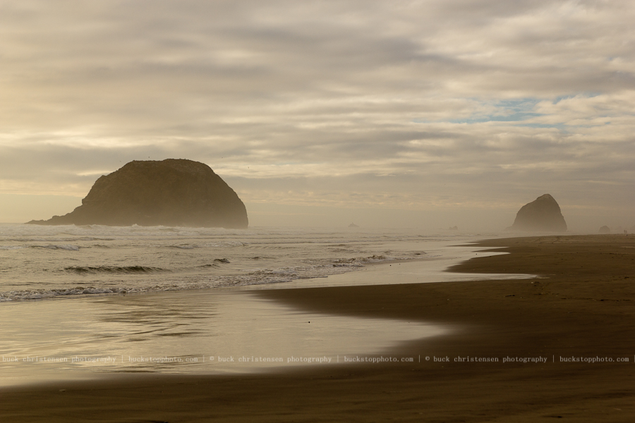 Haystack Rock at Cannon Beach, Oregon Coast