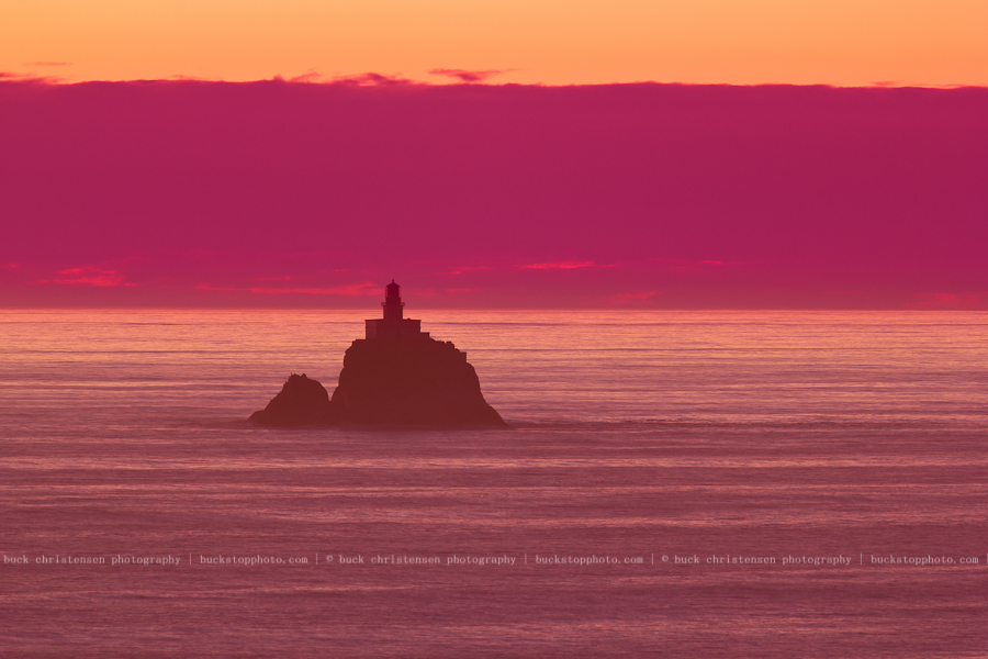 Tillamook Rock Lighthouse from Ecola State Park, Oregon Coast
