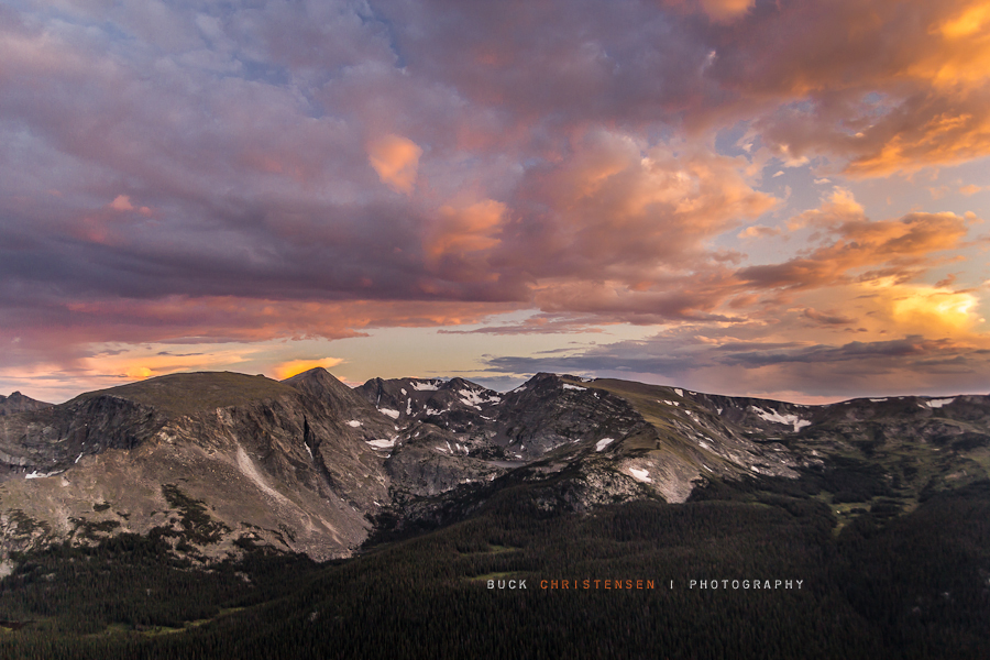 rocky mountain national park, rmnp, at sunset