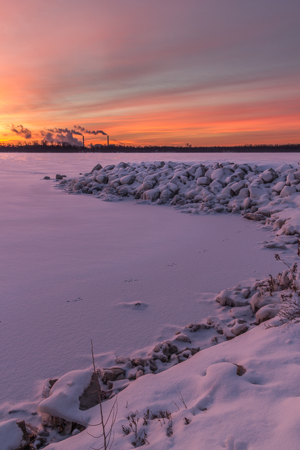'the beautiful solitude of winter' taken at Lake Manawa, Council Bluffs, Iowa