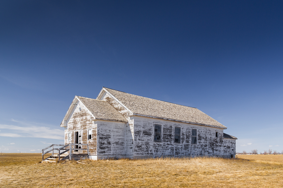 higher learning, abandoned schoolhouse, Nebraska Sandhills