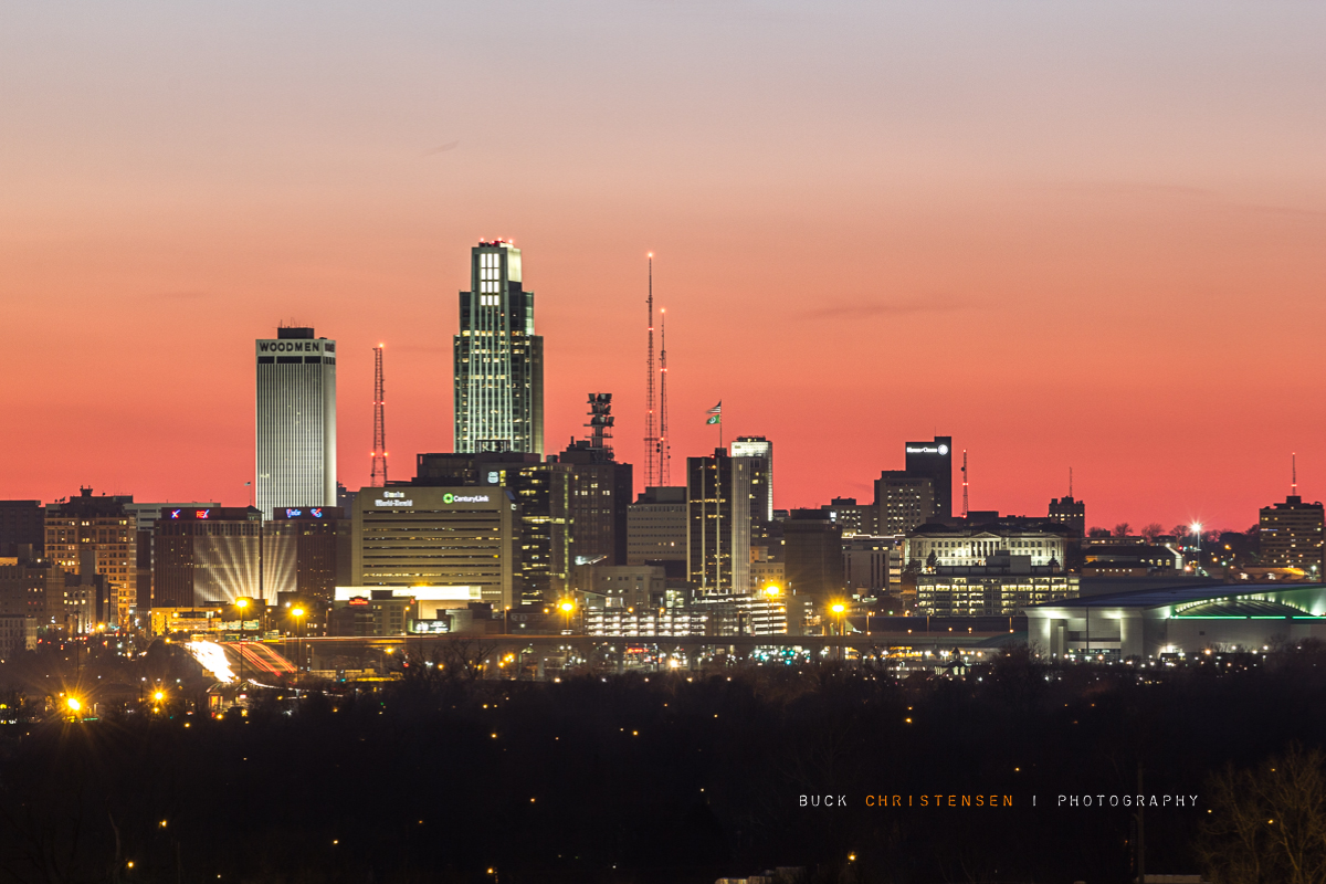 'those cold dazzling nights', Omaha, Nebraska skyline