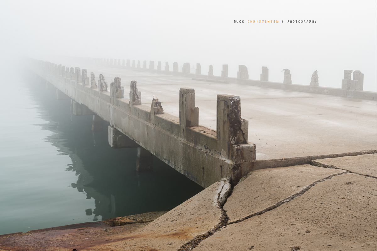 'the long wait for reclamation', original Queen Isabella Causeway, Port Isabel, Texas