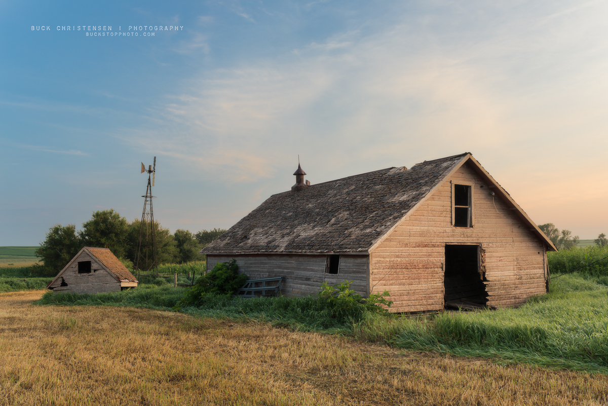 'we lived, felt dawn, saw sunset glow' barns at sunrise