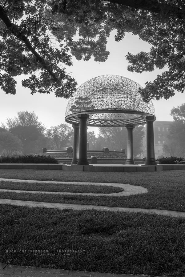 'oculus in repose', gazebo dome, performance pavilion, Bayliss Park, Council Bluffs, Iowa
