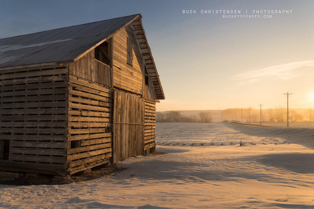 Barn in winter, Council Bluffs, Iowa.