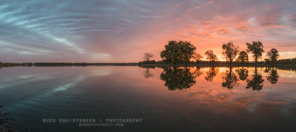 sunrise at boy scout island, lake manawa state park, council bluffs, iowa