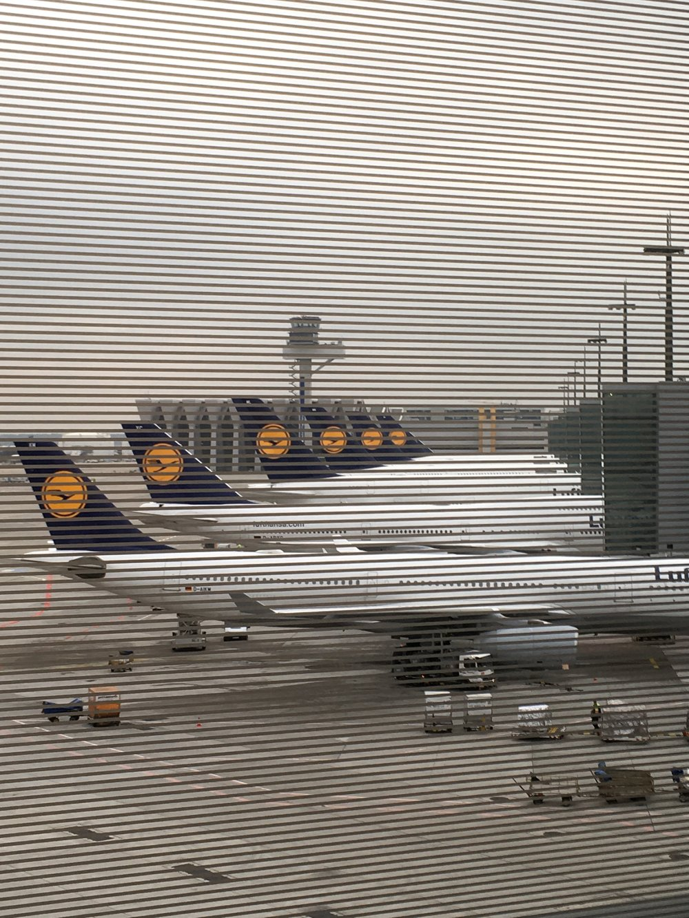 Aircrafts at Frankfurt on Sunday right after the big LH pilot strike - heaven for plane spotters