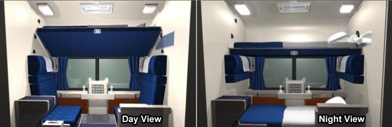 Amtrak sleeper compartments