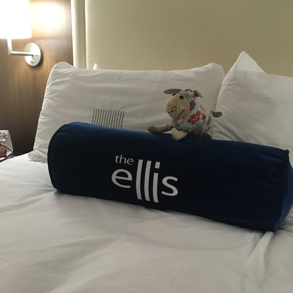 A confy room at the Ellis Hotel