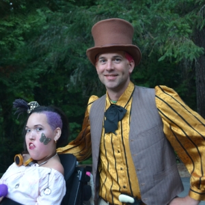 Steampunk dance.  Camp Promise-West, 2015