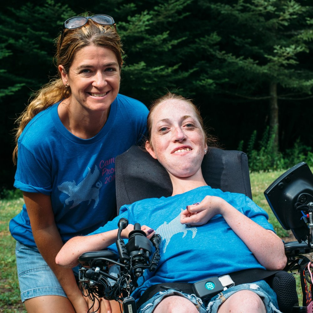 Stephanie and her counselor on Camp T-Shirt Day.  Camp Promise-East, 2016