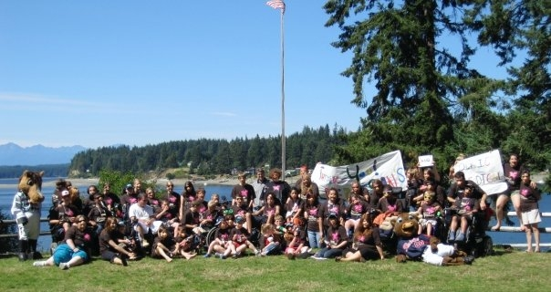 Whole camp photo, Camp Promise-West 2009.